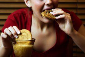 Unhealthy, Overweight Runaway Eating Habits